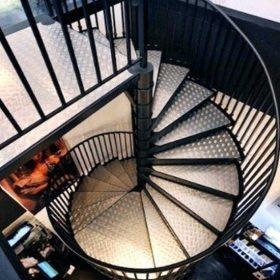 Çelik Spiral Merdiven Tasarım