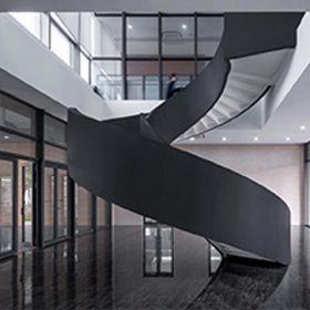 Çelik Paslanmaz Spiral Merdiven