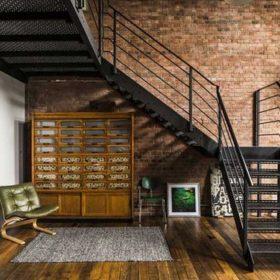Dekoratif Ahşap Kaplı Çelik Merdiven