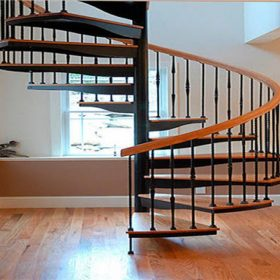 Dekoratif Döner Merdiven Çelik