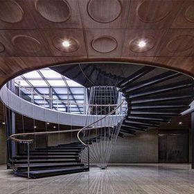 Dekoratif Çelik Spiral Merdiven
